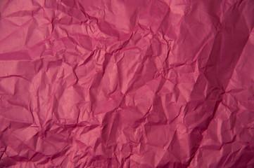 Crumpled pink paper texture