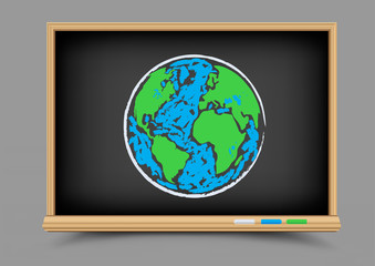 blackboard Earth lesson