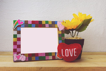 Picture Frame and sunflower for Home Decoration