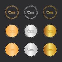 Schlitten - Bronze, Silber, Gold Medaillen
