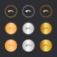 Stern Schnuppe - Bronze, Silber, Gold Medaillen