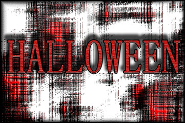 Halloween poster design with text and grunge background in red and black