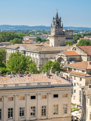 Avignon city view from Papal palace