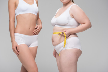 Difference between fat and slim figure