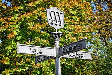 Schild der Partnerstädte Bad Salzdetfurth, Niedersachsen