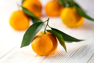 appetizing tangerines close-up
