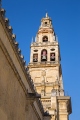 Cordoba - The Cathedral tower and walls.
