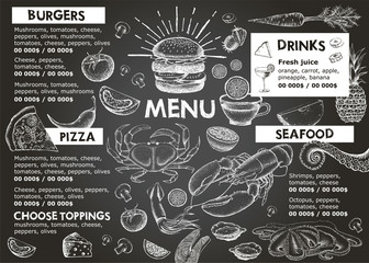 Restaurant cafe menu