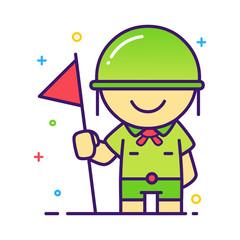 Boy Scout Illustration