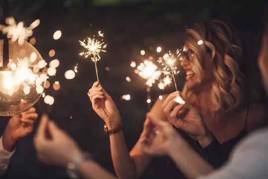Friends Having Celebration