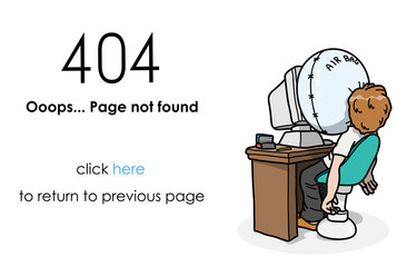 404 Page Not Found Error, a hand drawn vector illustration of a website error message.