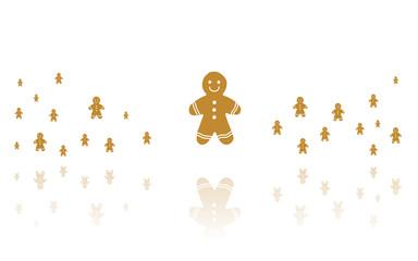 Reflektierende Symbole weiß - Lebkuchenmann