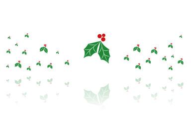Reflektierende Symbole weiß - Stechpalme