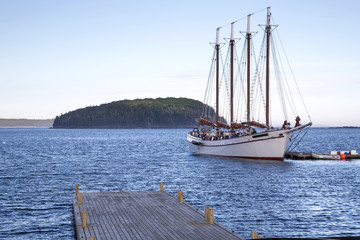 Bar Harbor in the Acadia National Park