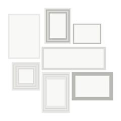 Empty white pocture
