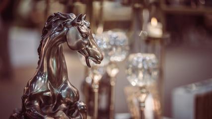 Metal Horse Statue