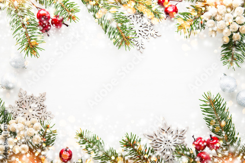 Christmas and New Year holiday background. Xmas greeting card ...