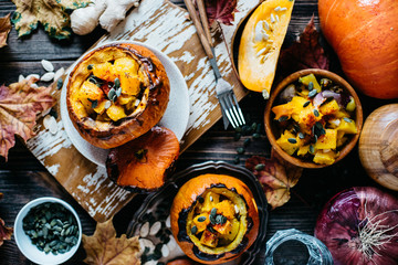 Vegetable stew with pumpkin