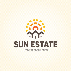 Sun Estate Logo Design Template