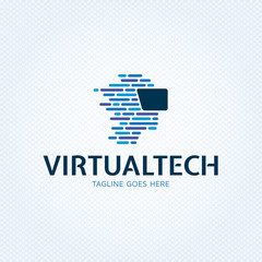 Virtual Technology Reality Logo Template