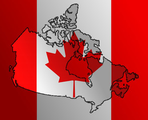 Canadian Flag with a border contour