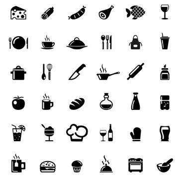 Icons Foods und Kitchen