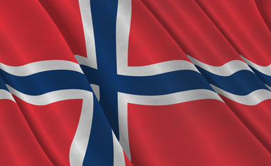 Flying Norwegian Flag