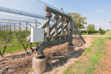 Irrigation system for agriculture.
