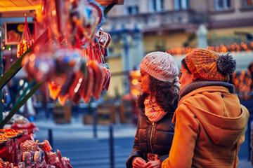 Enjoying Christmas Market