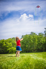 Canadian Girl with Kite