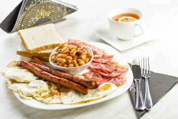 English breakfast only with a cup of tea