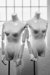 Mannequins in a shop.