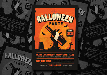 Halloween Party Flyer Layout 1