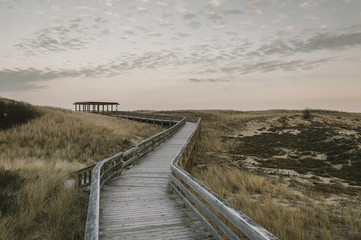 Salisbury Beach Boardwalk in Autumn