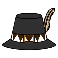Isolated pilgrim hat