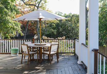 Porch in Autumn Season