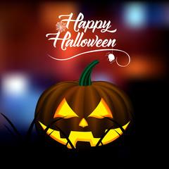 Colored halloween card