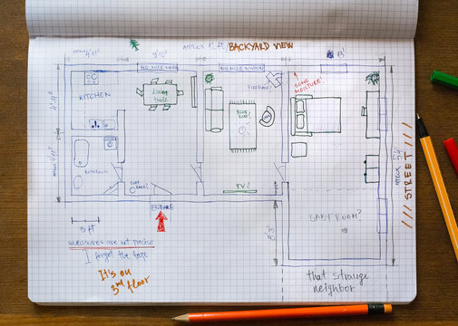 Floor plan sketch of our dream house