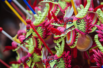 Decorations for chinese new year's eve. Thailand.
