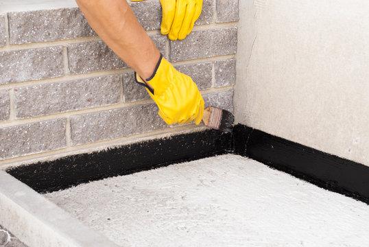 bitumen waterproofing of the foundation