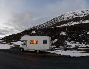 Campervan adventure in iceland