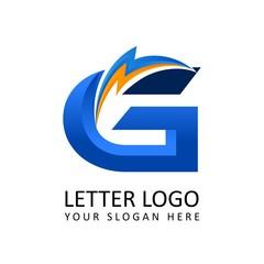 Letter g ELECTRICAL Alphabet Logo