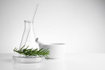 herbal medicine natural organic and scientific glassware