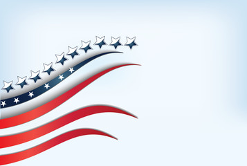 Flag USA background template with copy-space