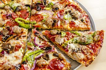 Fresh Thin Crust Supreme Pizza