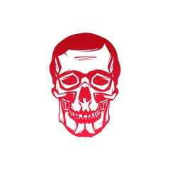 Gradient Abstract Skull Head Logo Vector Illustration For Wallpaper, Tattoo, T-Shirt, Pattern, Background, Emblem, etc