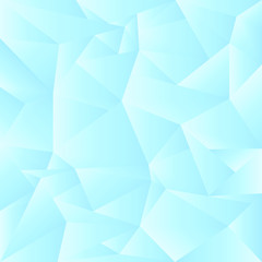 An ice blue low poly abstract background in vector format.