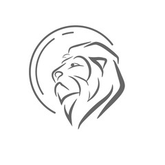 Circle with head lion