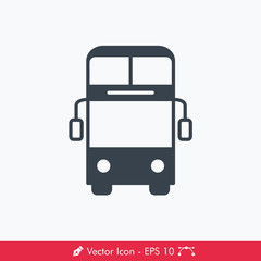 Bus (Double Decker) Icon / Vector