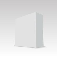 Blank vertical paper box. Vector illustration
